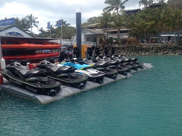 jet ski docks hamilton island