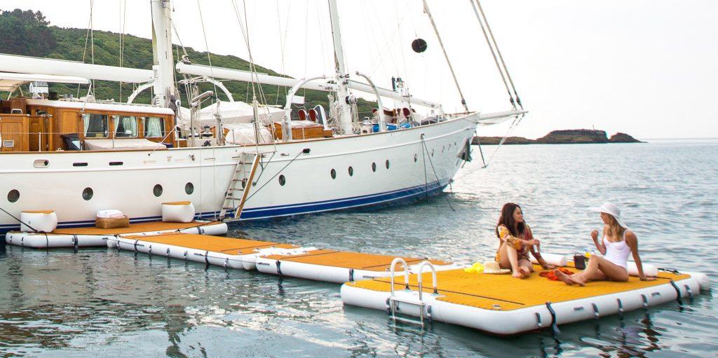 Nautibuoy inflatable platform
